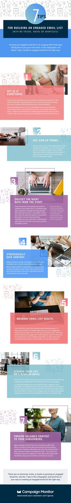 7 Tips for Building an Engaged Email List - #infographic