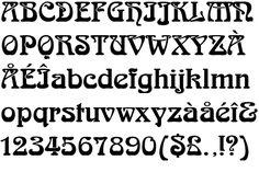 Art Nouveau typeface, Arnold Bocklin, designed by Otto Weisert in Hand Lettering Alphabet, Alphabet Art, Calligraphy Letters, Motifs Art Nouveau, Creative Fonts, Handwriting Fonts, Art Graphique, Typography Fonts, Lettering Design
