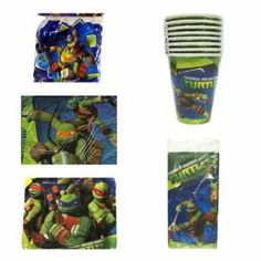 Tmnt Teenage Mutant Ninja Turtles Party Pack for 16 (Over 56 Items!) Cups, Napkins, Plates,tablecover,candles,balloons by Designware. $44.99. 16  EACH OF TNMT Dessert Plates, DESSERT NAPKINS, CUPS. 8 FT HAPPY BIRTHDAY BANNER AND. 6 Lime Green Latex Balloons And 1 Happy Birthday Candles. OFFICIALLY LICENSED BRIGHT COLORFUL. COMPLETE KIT READY AS 1*2*3 SENT PRIORITY MAIL ARRIVING IN 3-5 DAYS!. ONE CLICK AND YOU HAVE ALLYOU NEED FOR YOUR TURTLE PARTY!