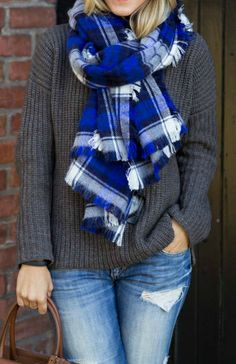 Plaid + Grey