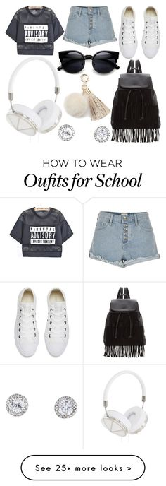 """School Day"" by susanna-trad on Polyvore featuring River Island, Converse, Glamorous, Frends and Juicy Couture"