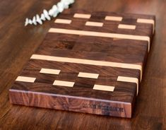 A personal favorite from my Etsy shop https://www.etsy.com/listing/291986463/end-grain-walnut-maple-butcher-block