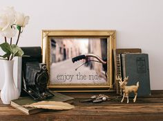 Teen room art, Enjoy the ride printable, Wall art, Bicycle poster, Home wall decor, Inspirational poster quote, life quote print BD-611