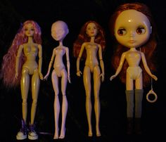 Body comparison - J-Doll, Monster High, VIP and Blythe | Flickr - Photo Sharing!