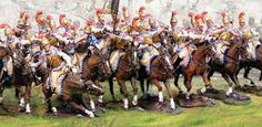 Napoleon's Grande Armée 2nd Carabiniers complete set - Made by The Collectors Showcase Military Miniatures and Models. Factory made, hand assembled, painted and boxed in a padded decorative box. Excellent gift for the enthusiast.