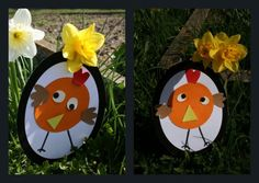 Après le lapin, voici le poulet... Des petites cartes à offrir aux papis, mamies... à toute la famille