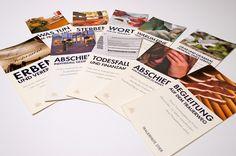 Trauerhilfe Stier:   Folder zu allen wichtigen Themen - aus einem Guss