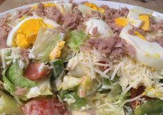 Tonhalas-tojásos Vitaminsaláta | Szücs Zsanett receptje - Cookpad receptek Kefir, Cobb Salad, Cabbage, Vitamins, Baking, Vegetables, Eat, Food, Bakken