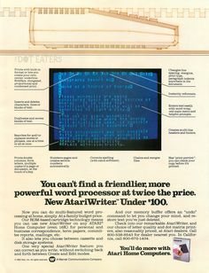 Corrects spelling (with extra software)(1983). #retrogaming #bitstory