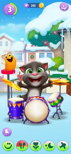 Mein Talking Tom 2 im AppStore Ipod Touch, Ipad, Talking Tom 2, Im App, Iphone, Toms, App Store, Snowman, Disney Characters