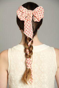 bow scarf braid