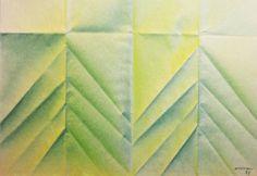 ESTIVAL 293 étude encre plissage (14.8x21cm) 1991 papier 80 grs : Peintures par lepinceaubleu