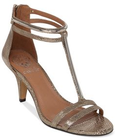 Vince Camuto Mitzy T-Strap Kitten Heel Evening Sandals - Evening & Bridal - Shoes - Macy's
