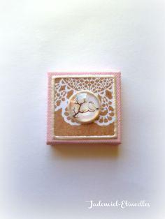 """Réservé Nath. Mini toile décorative série """" Un Chant d'Amour """" n°1 : Accessoires de maison par jademiel-etincelles"""
