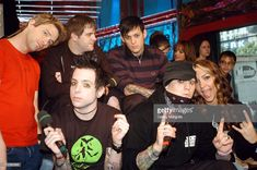 Paul Thomas, Billy Martin, Joel Madden and Benji Madden of Good Charlotte with Fuse VJs Steven and Marianela (right) *Exclusive* Joel Madden, Billy Martin, Good Charlotte, September 7, Bands, Stock Photos, Pictures, Collection, Photos