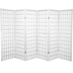 5' Tall Window Pane Shoji Screen, White