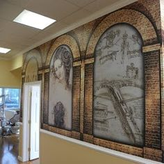 Leonardo Da Vinci wall murals to welcome you to Da Vinci Dental Specialists in Warminster, PA.
