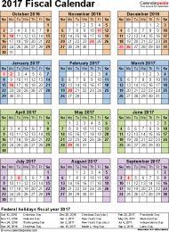 Quarters Fiscal Year Calendar 2016