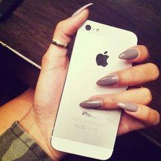 Grey mauve stiletto