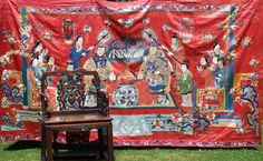This 10' X 6' silk embroidered wall hanging sold on ebay for 16,600.00!