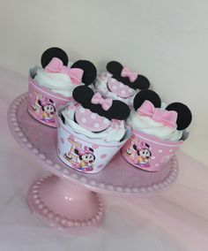 Minnie Mouse Cupcakes by Violeta Glace
