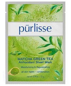 Purlisse Matcha Green Tea Antioxidant Sheet Mask In need of some after-sun care? These soothing sheet masks are more than up to the task. Face Mask For Pores, Easy Face Masks, Best Sheet Masks, Charcoal Mask Peel, Pore Mask, Anti Aging Night Cream, Summer Skin, Matcha Green Tea, Tinted Moisturizer