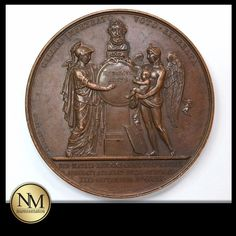 1820 Louis XVIII #Bronze #Medal #forsale on +Kollectbox  www.kollectbox.com - #Marketplace for #Collectors  #medals #numismatics