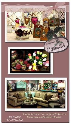 Come browse our large selection of one of a kind furniture and accessories!   wearemarblefalls.com
