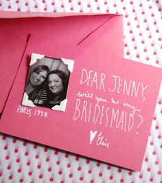 DIY Bridesmaid Invitations from Chelsea at Frolic