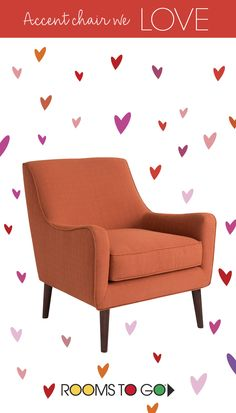 Happy Valentine's Day!  This accent chair is one we LOVE! Celebrate this special day with your loved ones at Rooms To Go!