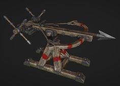 Ballista Siege Weapon, Christopher Schroeder on ArtStation at https://www.artstation.com/artwork/VNBLg