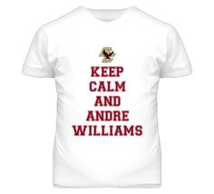 Keep Calm and Andre Williams  Boston College Football  T Shirt