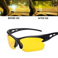b41a5fc3e53e2 1PC Night Vision Goggles HD Vision Night Driving Glasses Wind UV400  Protection Sunglasses Anti Glare Unisex