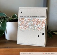 Neat & Tangled is celebrating STAMPtember® with exclusive product just for you! There are very limited quantities available of this stamp set and it is ONLY available at Simon Says Stamp this STAMPtember while supplies last. Large Floral Arrangements, Neat And Tangled, Simon Says Stamp, Watercolor Cards, Clear Stamps, Stencils, Decorative Boxes, Paper Crafts, Sayings