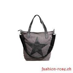 SALE - Lässige STERN Tasche in GRAU Tote Bag, Bags, Fashion, Stars, Handbags, Grey, Moda, Fashion Styles, Totes