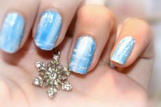 Nail art Winter Blues