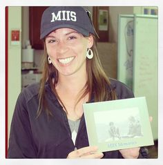 #jterm photo contest #prizewinner Laura Maas with her new #montereyinstitute #cap and #pictureframe. #congratulations!