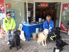 John Tovey and his Guide dog Dez, Monica Cave and Dale, Jangle and Annie :)