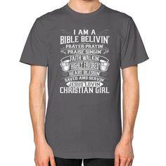 Christian girl Unisex T-Shirt (on man)