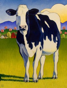 Cow  Painting - Stacey Neumiller