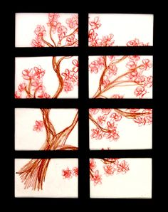Japanese shoji screens are decorative as well as functional. Create a miniature shoji screen with symbols of this unique culture.