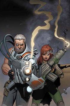 Cable and Hope Summers by Salvador Larroca #XMen #Mutants