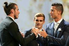Gareth Bale, Antoine Grizzman y CR7. Nominados y ganador.