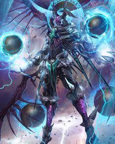 Yinsjui N°10 forma de vida extraterrestre con un 80% de similitud con los insectos, grandes conocimientos magicos. -Resistencia: su fuerte quitina le protege frente a golpes mortales normales, mental superior+. -Poderes: magias, prefiere el rayo, y capaz de crear pequeños portales de gusano. -Debilidades: ataques hipermortales, armas de acero deldrimor, venenos++