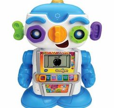 VTECH Gadget the Robot Kids will love learning about letters, words, numbers and objects with Gadget the Robot by VTech. With six different modes of play, lots of funny phrases and groovy dance moves, Gadget is the perfect  http://www.comparestoreprices.co.uk/educational-toys/vtech-gadget-the-robot.asp