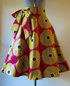 Effortless Style High Waist African Wax Print Wrap by WithFlare Latest African Fashion Dresses, African Print Dresses, African Print Fashion, African Shirts, African Wear, Nigerian Outfits, Nigerian Clothing, Shweshwe Dresses, Trendy Ankara Styles