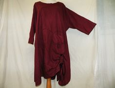 Tunic with Spirals, Linen, medieaval style