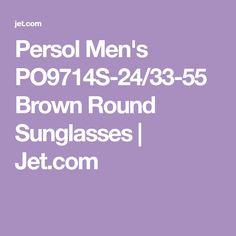 906cbc1217 Persol Men s PO9714S-24 33-55 Brown Round Sunglasses