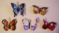 HOW TO MAKE BUTTERFLY FROM PLASTIC BOTTLES AND SEQUINS ~ Crazzy Craft