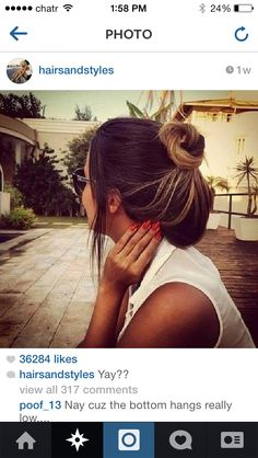 Find and save the latest beauty products and looks you'll love this season. Easy Bun Hairstyles, Pretty Hairstyles, Brunette Hairstyles, Hairstyles Haircuts, Love Hair, Gorgeous Hair, Amazing Hair, Amanda, Loose Updo